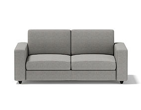 3D model Grey Two Seat Sofa