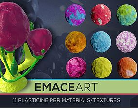 PBR 11 Toon Plasticine Material Substance Texture Mega 3D