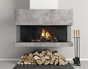 Fireplace Modern 33 3D model