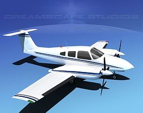 Piper PA-44-180T Turbo Seminole V13 3D model