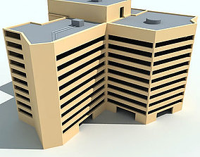 Yellow Complex Building 51 3D model