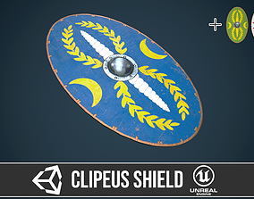 3D model Roman shield clipeus 3