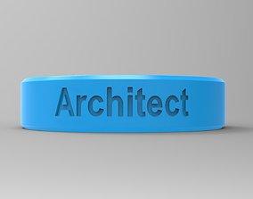 Architect Ring Blue 3D printable model