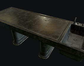 Old Autopsy Table 3D asset