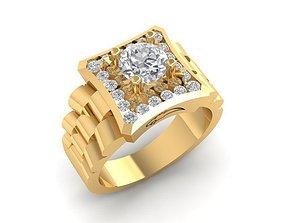 1133 Diamond Korea Men Ring 3D printable model