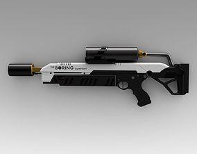 3D model The boring company not a flamethrower burn