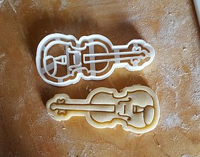 3D print model Violin cookie cutter