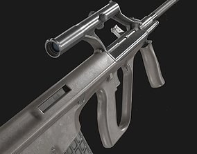 AUG A1 Assault Rifle 3D asset