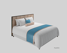 guest room bed 3D model rigged