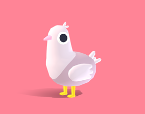 3D model Diva the Dove - Quirky Series
