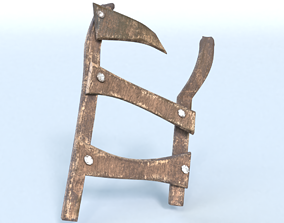 3D model Old Broken Ladder