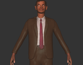 game-ready Mr Bean people character comedy printer 3D