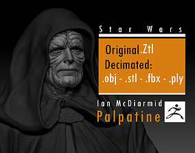 Ian McDiarmid - Palpatine - Darth 3D printable model 3