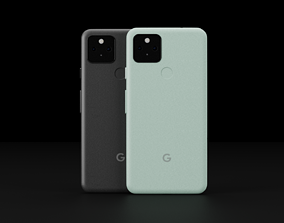 Google Pixel 5 in All Official Colors 3D asset