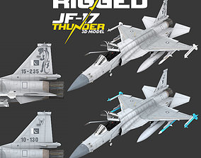 3D model JF-17 Thunder Pakistan 2x Color Schemes Rigged