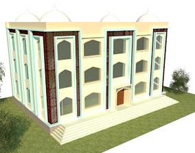 The Modern Mosque Design 3D asset