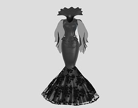 Victorian Gothic Dress2 3D model
