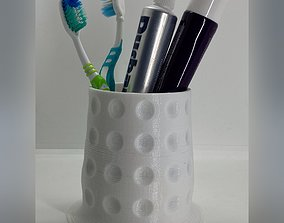 3D print model Toothbrush holder with stable base