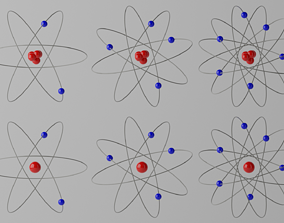 Atoms 3D model game-ready