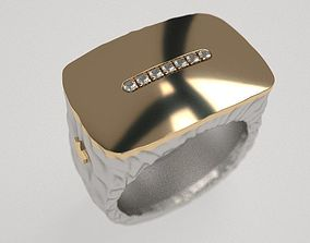 massive 3D print model Forged ring