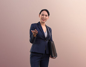 Bao 10554 - Asian Business Woman Pointing 3D model 2