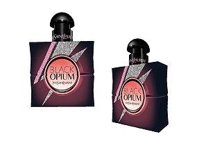 3D model Black opium YSL - perfume bottle