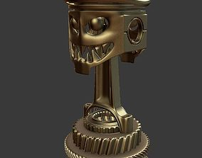 3D Death race trophy cup