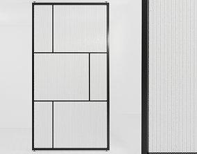 Glass partition door 61 3D asset