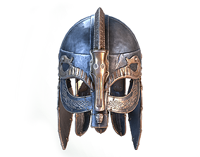 Viking helmet 3D model realtime PBR