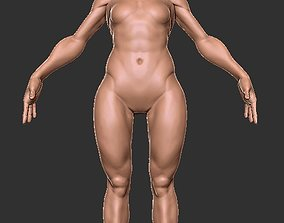 3D model Female Base Character Average Height