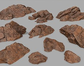 desert rock 3 3D asset game-ready
