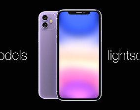 Apple iPhone XI purple model 3D