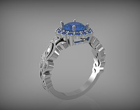 3D printable model jewelry Beautiful engagement ring