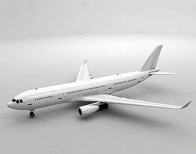 Airbus A330-200 Airliner - Generic White 3D model