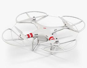 DJI Phantom 2 Quadcopter with Propeller Guard 3D model