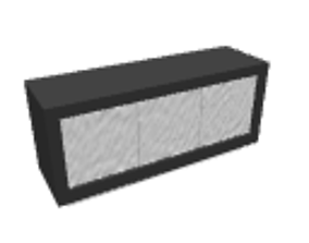 Black sideboard 3D