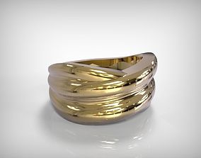 Jewelry Golden Bracelet Incrusted 3D printable model