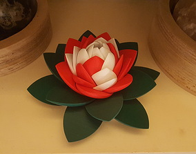 Lotus Flower Puzzle 3D printable model