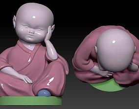 3D printable model A LITTLE MONK NO speak no see no 2