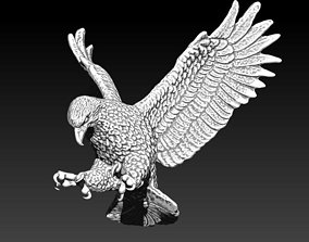 3D printable model Realistic Flying Bird Eagle Hawk