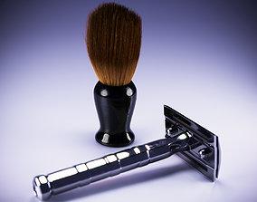 3D model vintage razor scene