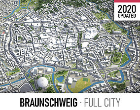 Braunschweig - city and surroundings 3D asset