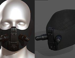 3D asset realtime Gas mask respirator scifi futuristic