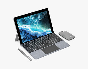 Microsoft Surface Go and Type Covers and Mobile Mouse 3D