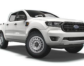 Ford Ranger DoubleCab XL EUspec 2021 3D model