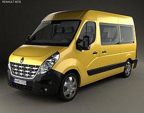 3D model Renault Master Passenger Van 2010