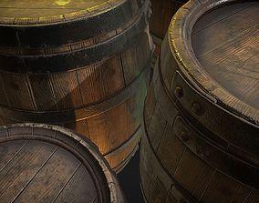 Wood barrels 3D model