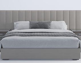 3D model bed modern 01