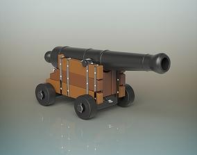3D model cannon limber