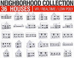 Neighborhood Houses Collection - 36 Pack 3D asset